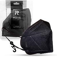 RMOVE FFP2 zwart wegwerpmasker professionele bescherming, elastieken comfortabel CE-gecertificeerd voor volwassenen met…