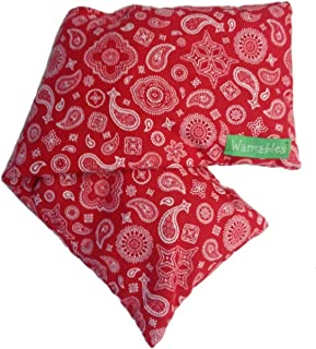 product image for Warmables Back Log Natural Heat Pad Pillow red Bandana