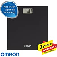 Omron HN 289 (Black) Automatic Personal Digital Weight Machine With Large LCD Display and 4 Sensor Technology For Accurate Weight Measurement