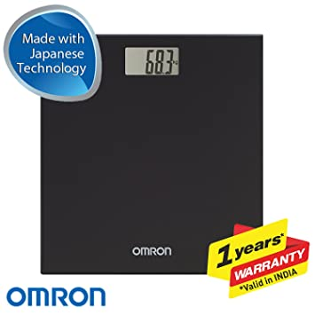 OMRON HN289 - Báscula de baño digital, 5 Kg a 150 Kg, pilas incluidas, color negro: Amazon.es: Salud y cuidado personal