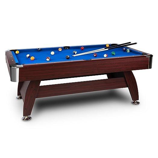 OneConcept Brighton U2022 Billiard Table U2022 Pool Table U2022 MDF Wood U2022 Cherry Wood  Veneer U2022