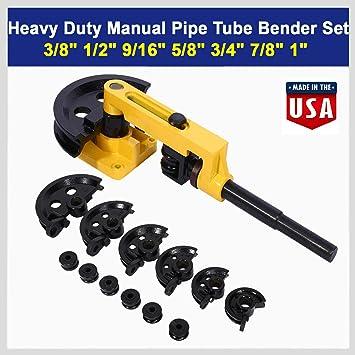 10-25mm Heavy Duty Manual Steel Pipe Tube Bender Metal Pipe Bending Tools 7 Dies