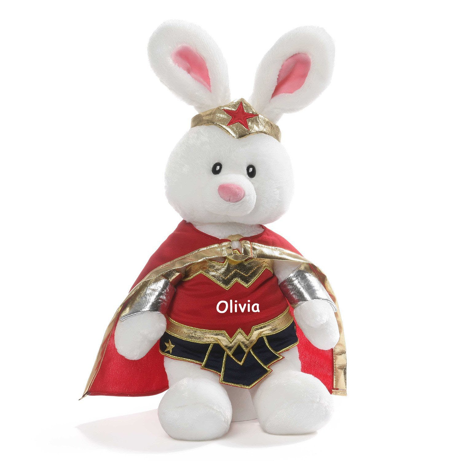 Amazon Com Personalized Gund Dc Comics Wonder Woman Bunny Plush