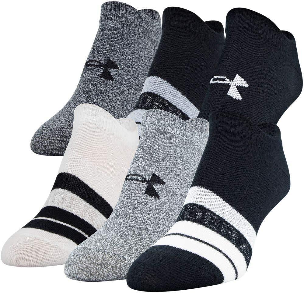Details about  /Under Armour Women/'S Essential 2.0 No Show Socks 6-Pair