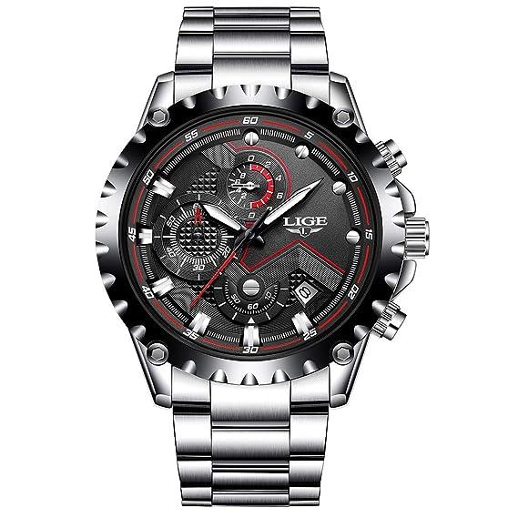 Hombre Relojes, Mode Hombres Militar chronographen Sport Resistente al agua fecha calendario Lujo Reloj de pulsera: Amazon.es: Relojes