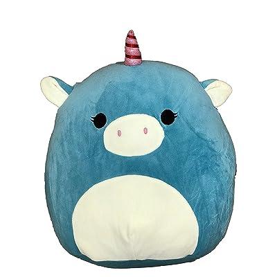 "Kellytoy Squishmallow 8"" Ace The Turquoise Unicorn Super Soft Plush Toy Pillow Pet Pal Buddy (Ace The Turquoise Unicorn): Toys & Games"
