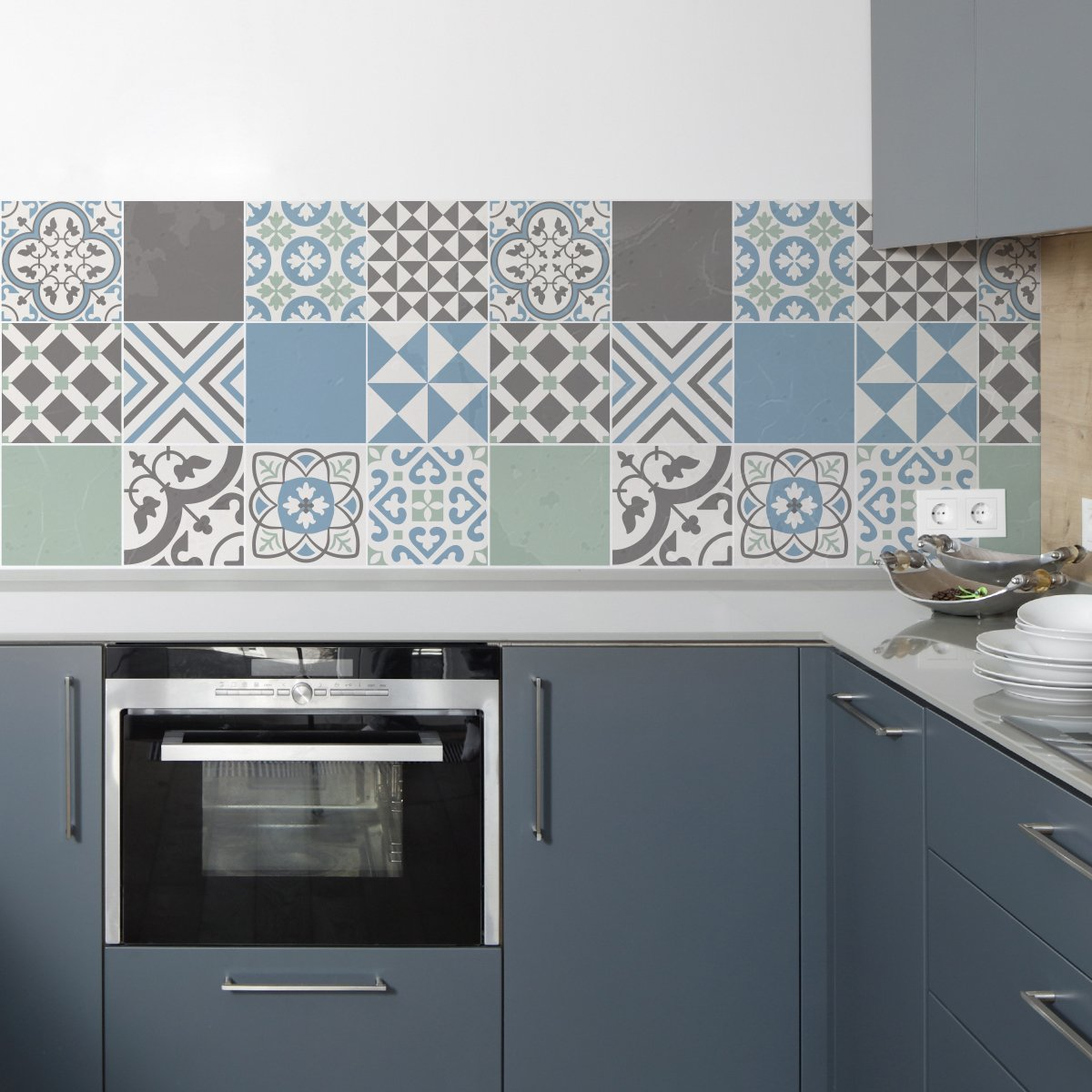Sirface Portugais Pastel Tile Stickers –  Ensemble de Stickers pour carrelage pour Cuisine et Salle de Bain –  Lot DE 24 –  Diffé rentes Tailles Disponibles, 6x6 inches | 15x15 cm