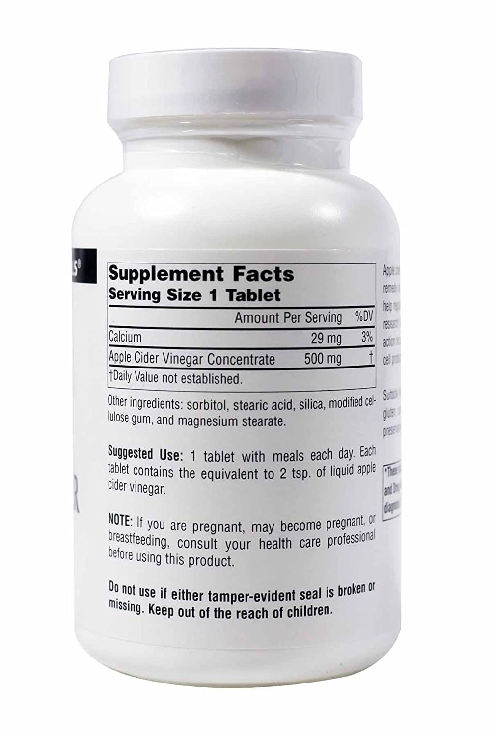Source Naturals Apple Cider Vinegar 500mg Dietary Supplement – 180 Tablets Pack of 2