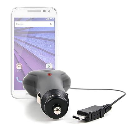 DURAGADGET Cargador Mechero Coche para Motorola Moto G (3ª ...
