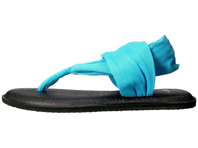 Sanuk Womens Yoga Sling 2 Flip Flop Aqua 7: Amazon.es ...
