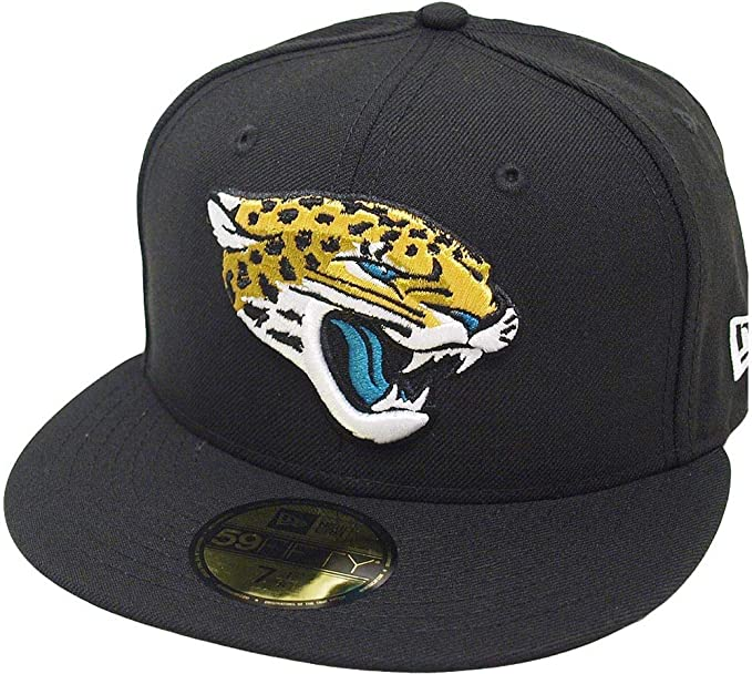New Era Jacksonville Jaguars Black on Black 59fifty Fitted Cap Limited Edition