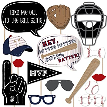 amazon batter up baseball party photo booth props kit 20