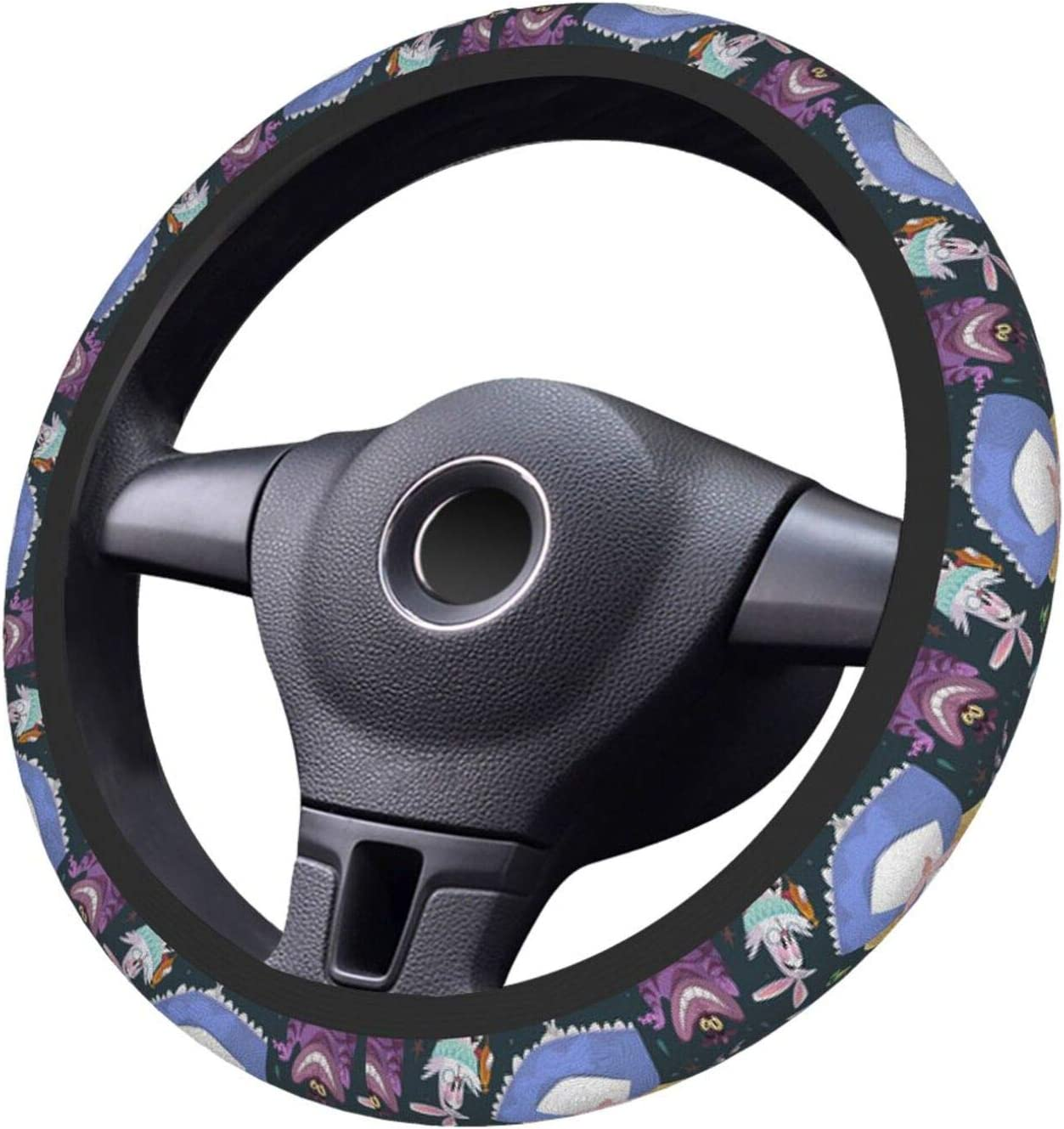 UHBBT Cheshire Cat Streering Wheel Cover Universal Fit 15 Inch Elasticity Auto Car Wheel Protector for Men Women