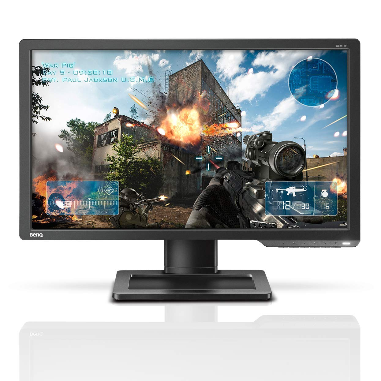 BenQ ZOWIE XL2411P 24 Inch 144Hz Gaming Monitor 1080P 1ms Black eQualizer Color Vibrance for Competitive Edge