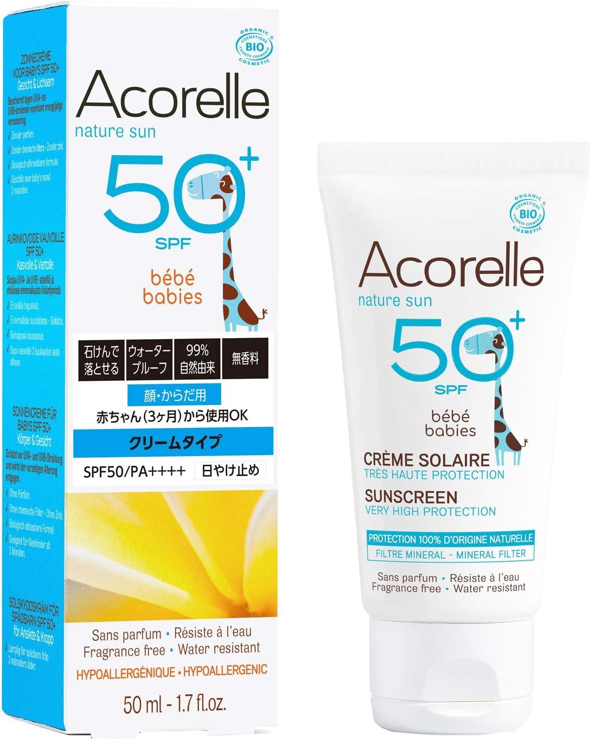 Acorelle - Crema Solar Bebe SPF50 Bio, 50ML: Amazon.es: Salud y ...