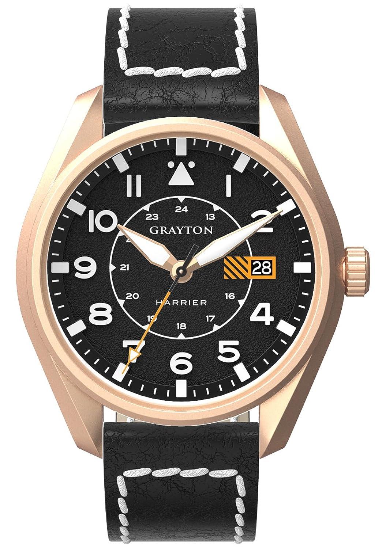 Grayton Herren-Armbanduhr Harrier Analog Quarz Leder GR-0014-005.3