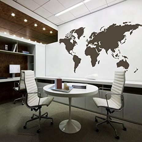 Amazon world map wall decal removable map decal vinyl map wall world map wall decal removable map decal vinyl map wall decor world map wall sticker living gumiabroncs Choice Image