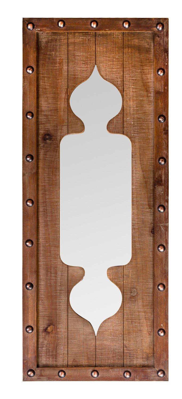 Marrone Burkina Home Decor Specchio Forme Cortijo Legno 40/x 3/x 100/cm