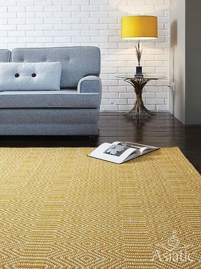 Amazon The Rug House Sloan Modern Soft Mustard Yellow Easy
