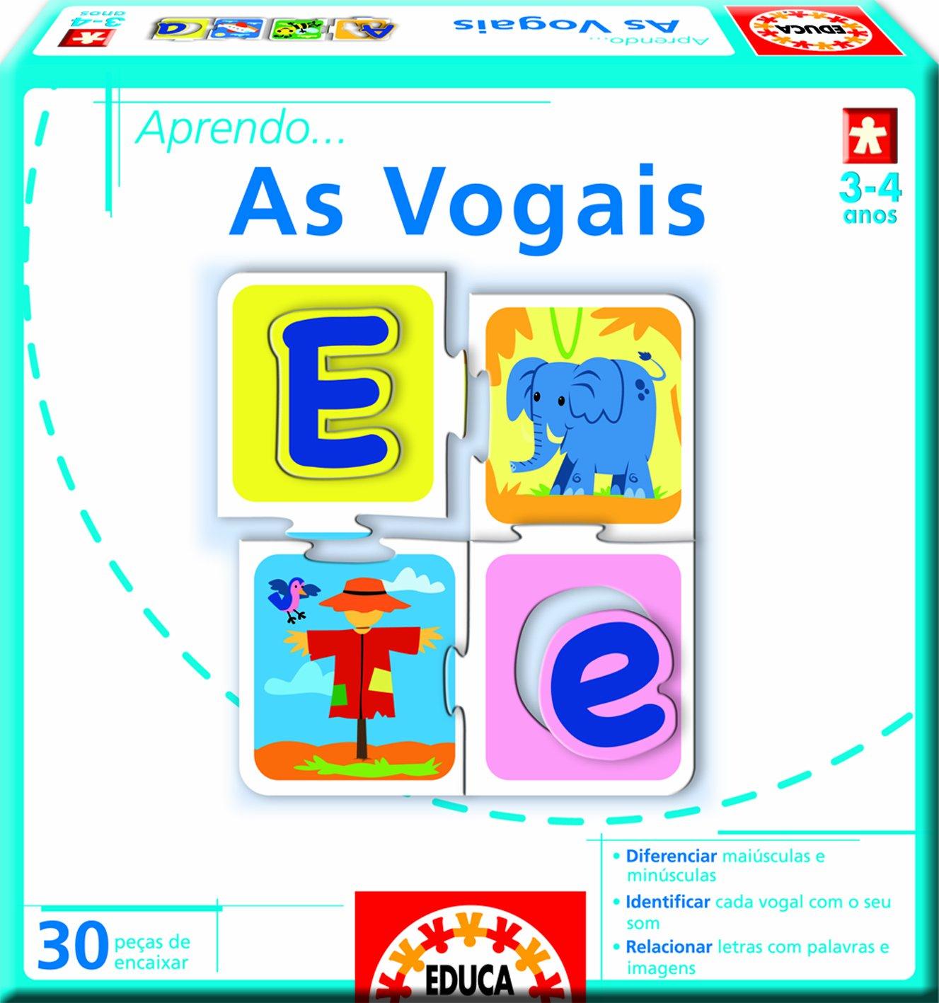 Juegos educativos Educa - Aprendo as... vogais, en portugués (14240): Amazon.es: Juguetes y juegos