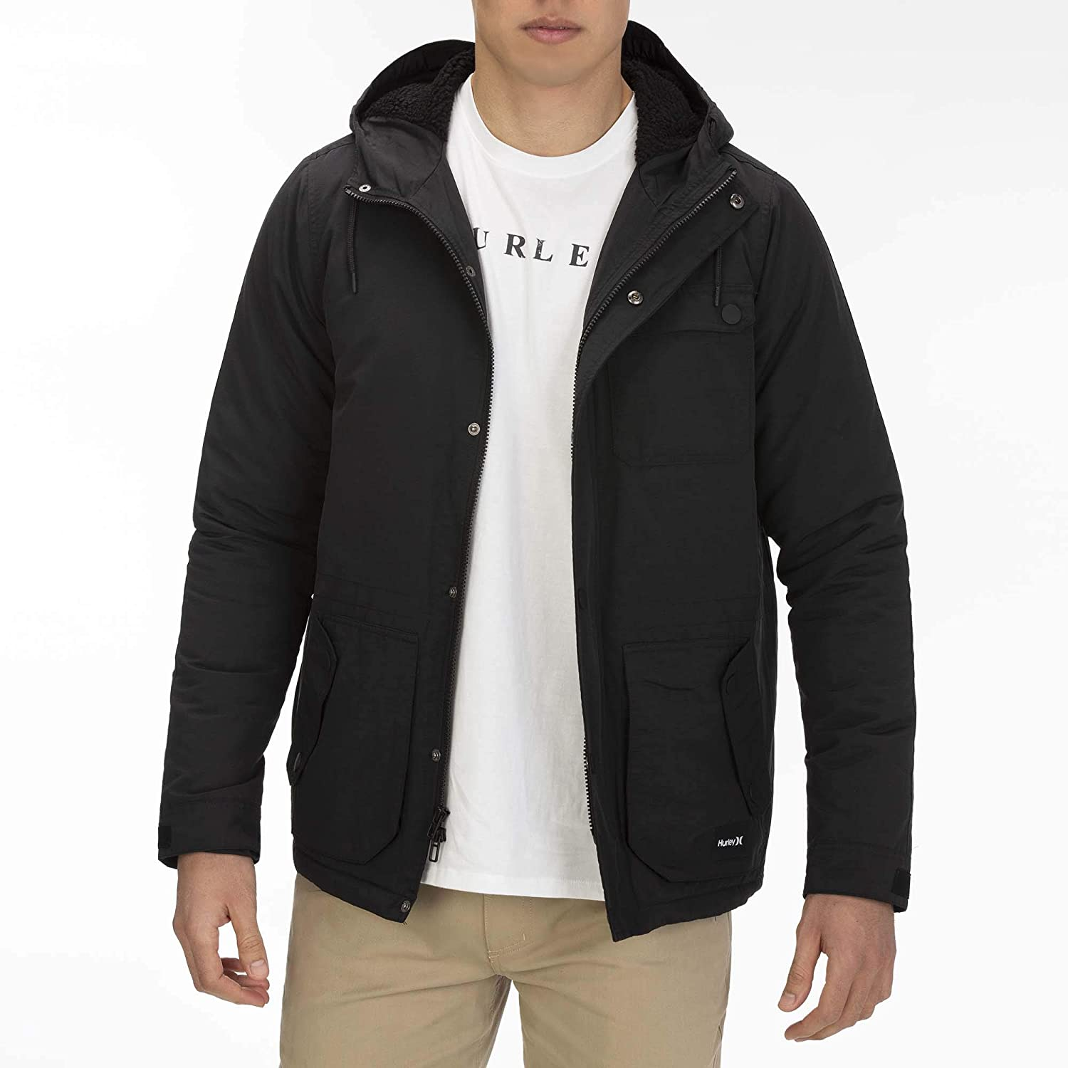 quality where can i buy discount sale Amazon.com: Hurley Men's Slammer Jacket: Clothing