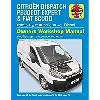 Citroen Dispatch, Peugeot Expert & FIAT Scudo Diesel ('07-Aug '16) 56 to 16