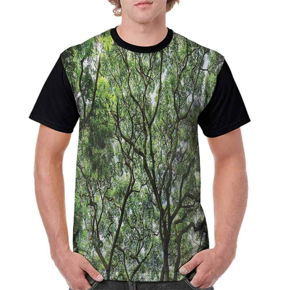 Trend t-Shirt,Twiggy Branches in Jungle Fashion Personality Customization