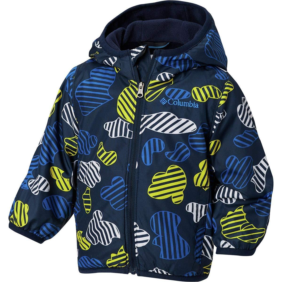 Columbia Kids Baby Boy's Mini Pixel Grabber¿ II Wind Jacket (Infant/Toddler) Collegiate Navy Cloudy Came 3T