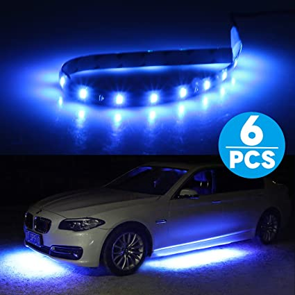 Amazon 6 pack car led strip lights kit linkstyle 15 leds car 6 pack car led strip lights kit linkstyle 15 leds car motorcycle flexible strip light aloadofball Images