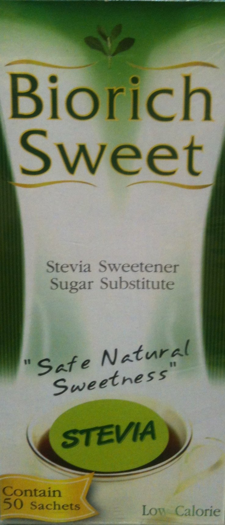 Biorich Sweet Stevia Sweetener Sugar Substitute50 Sachets l by ThaiShop4You