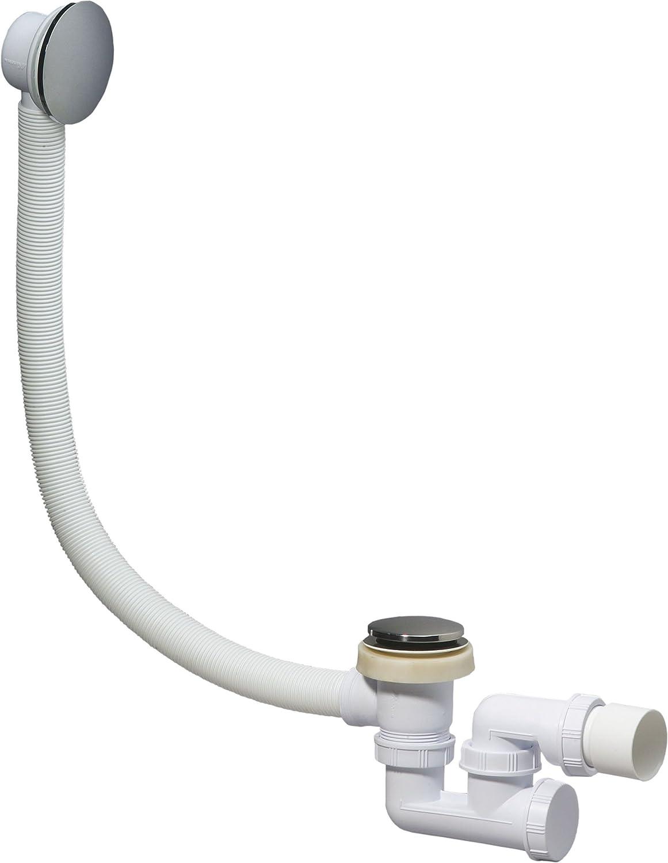 wirquin sp780399 colonna di scarico per vasca da bagno con piletta a chiusura rapida e