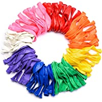 Multicolor Latex Balloons - Pack of 100 , 12 Inch Size I Rainbow Theme Decorations I Baby Shower, Engagement, Weddings…