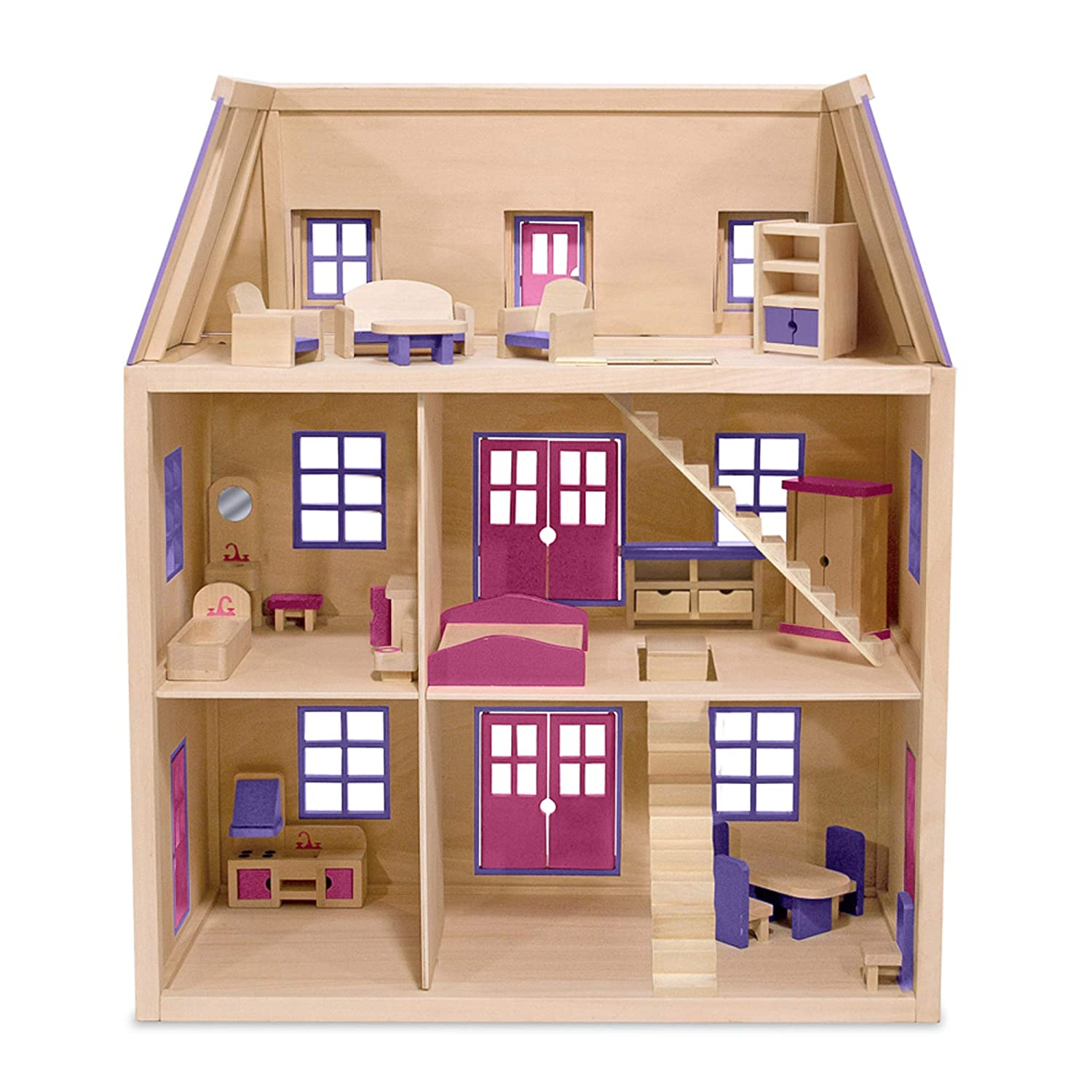 Top 9 Best Dollhouse for Toddlers Reviews in 2019 7