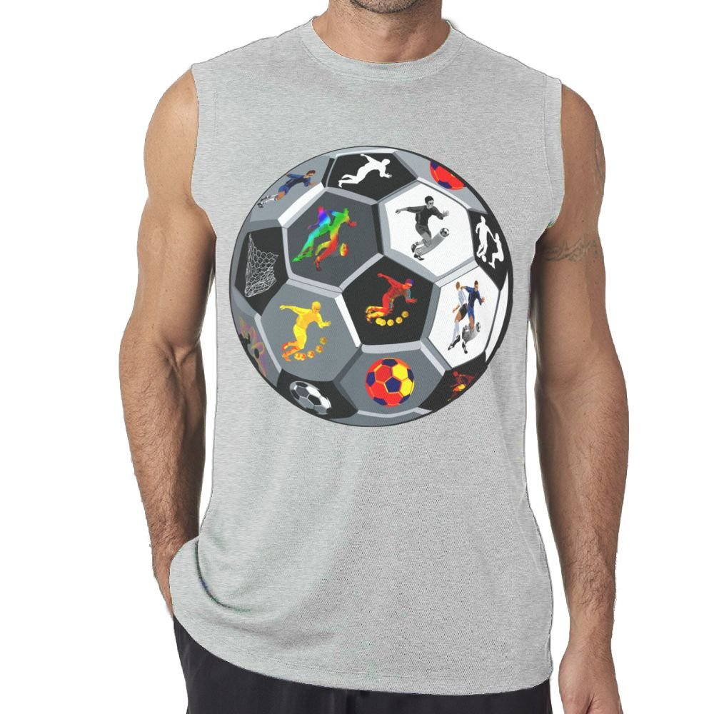 Oopp Jfhg Vest Sleeveless Shirts Fit Mens Funny Football Muscle