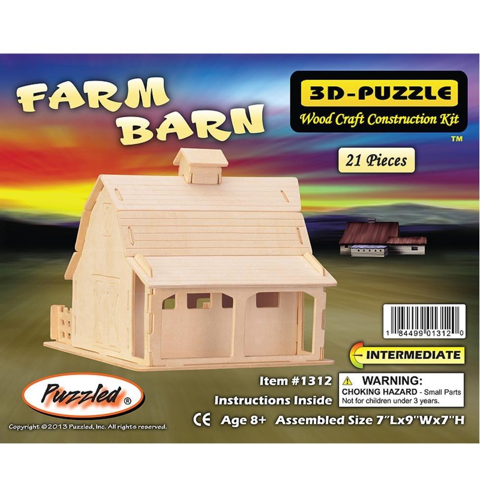 超人気高品質 Puzzled Farm Barn Farm 3D Barn Natural Wood Puzzled Puzzle B004MQ9WB6, アナブキチョウ:39a4d111 --- quiltersinfo.yarnslave.com