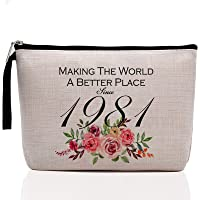 40th Birthday Gifts for Women-Making The World A Better Place Since 1981, 40 Years Old Makeup Bag for Her, Friend, Mom…