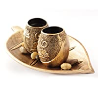 Skycandle Teacher's Day Gift Leaf Tealight Holder with Two Ball Candle Holders for Home Décor/Living Room Décor/Gift for Teachers