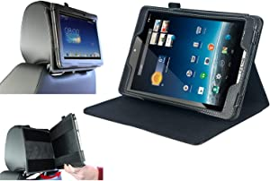 Navitech Black Frontier Series Fitted Tablet Case with Headrest Mount Compatible with The Acer ICONIA B1-790-K732 7-Inch Tablet | Acer ICONIA B1-790-K017 7-Inch Tablet