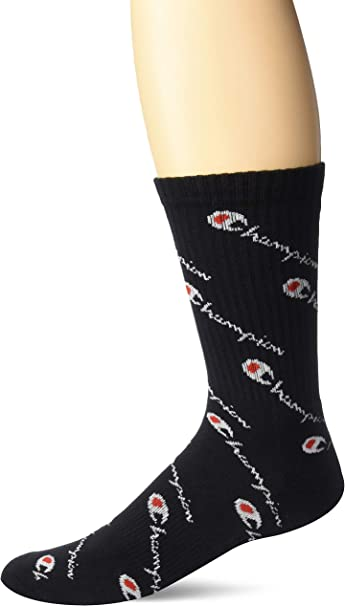 black One Size Champion LIFE Mens Crew Sock