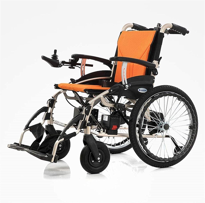 Sillas de ruedas eléctricas para adultos De peso ligero plegable Silla de ruedas eléctrica, aleación de aluminio extraíble de iones de litio energía de la batería de ruedas silla de ruedas de motor si