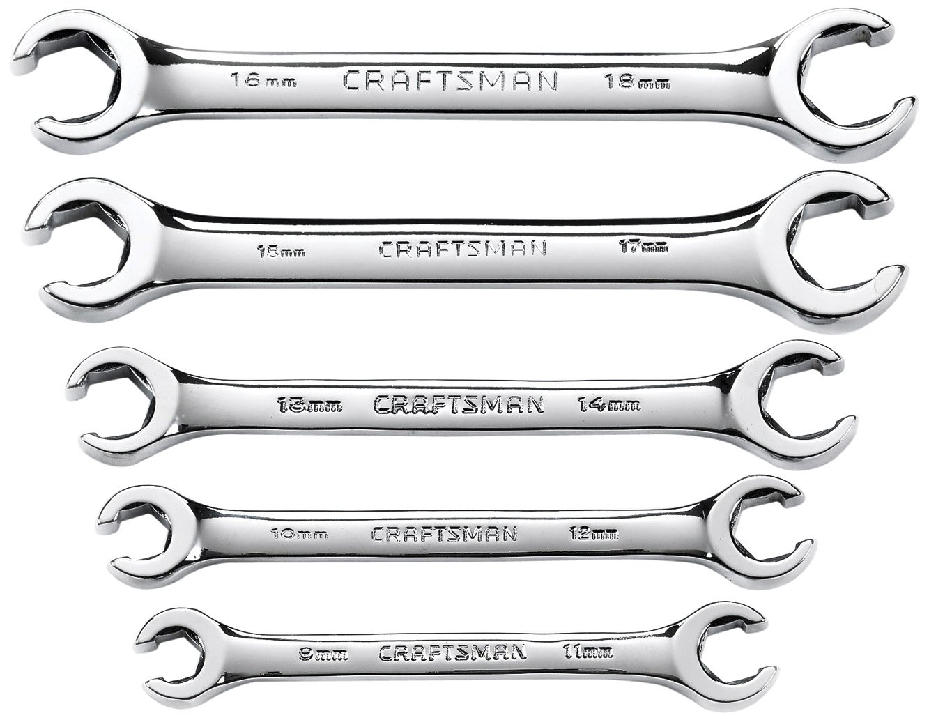 Craftsman Metric Flare Nut Wrench Set, 5-Piece, 9-42013 by Craftsman