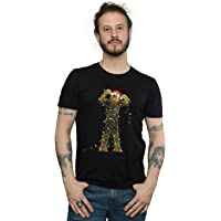 Star Wars Men's Chewbacca Christmas Lights T-Shirt