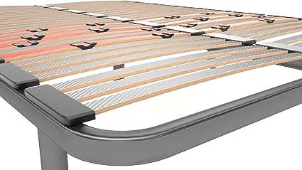 LA WEB DEL COLCHON Somier Multiláminas Regulador 135 x 190 x 5 cms. (5 Patas Incluidas)