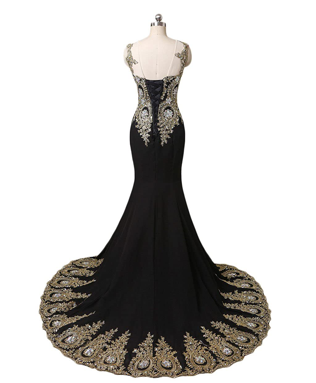d01af5a8cace Dydsz Long Evening Dresses for Women Formal Prom Dress Mermaid Beaded  Appliques D86: Amazon.ca: Clothing & Accessories