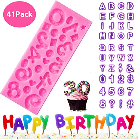 Letters Shape Silicone Mould DIY Fondant Cake Mold Cake Decoration Tools #1