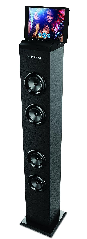 Sharper Image Bluetooth Tower Speaker With A Docking Station Fm