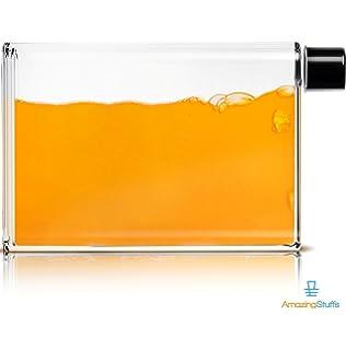 9ba5778a1d1c SAIBANG Reusable Flat Plastic Water Bottle, Special Book Shape ...
