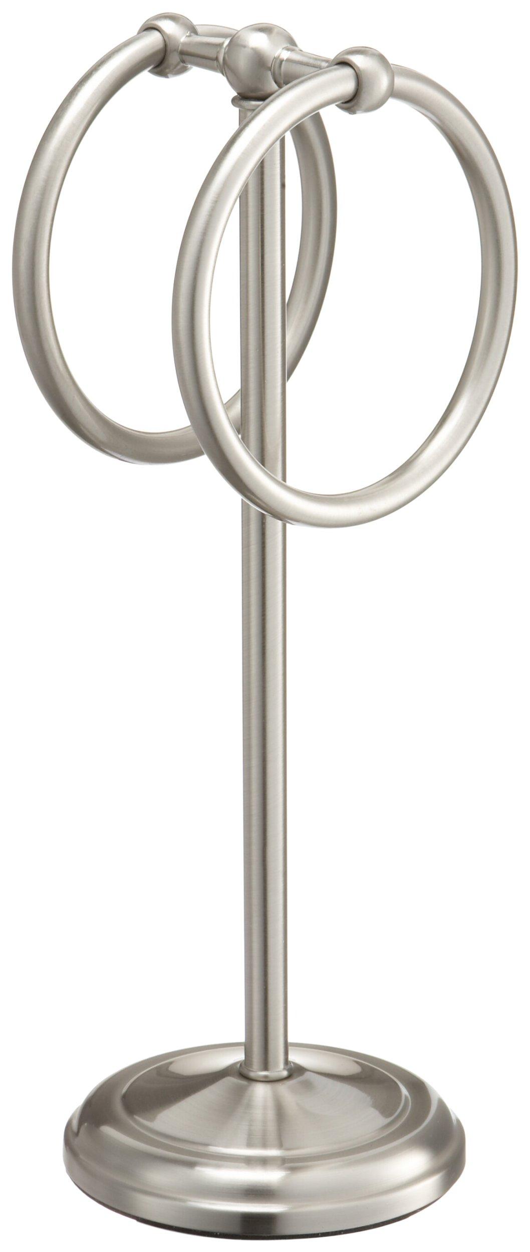 Taymor 02-D8584SN Pedestal Fingertip Towel Rings, Satin Nickel