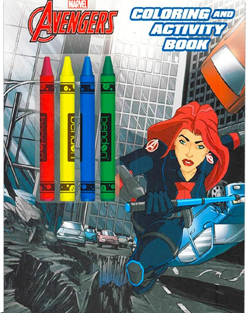 Marvel Avengers Coloring Book Super Set with Crayons (3 Jumbo Books Featuring Captain America, Thor, Hulk, Iron Man and More!): Toys & Games