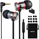Betron MK23Mic Earbuds, Wired Headphones with Microphone, Noise Isolating Earphones, Flat Wired Earbud for iPhone, iPad…